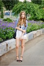 Navy-h-m-blazer-white-zara-shorts-white-bik-bok-top-black-bianco-heels