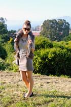 Prada sunglasses - Silvia Fiorentina flats - BCBG skirt - BB Dakota vest - Gold