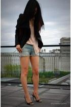 peach silk Equipment blouse - crimson donna Alexander Wang bag
