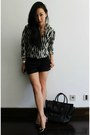 Black-mini-luggage-celine-bag-white-silk-zebra-winter-kate-blouse