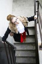 red Urban Outfitters pants - black BB Dakota jacket
