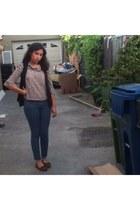 brown suede moccasins Mocasins shoes - violet forever jeans Forever 21 jeans