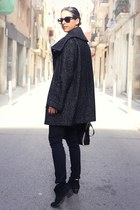 black H&M coat