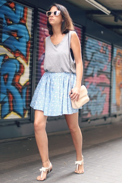 skater skirt AX Paris skirt - sandals Zara flats