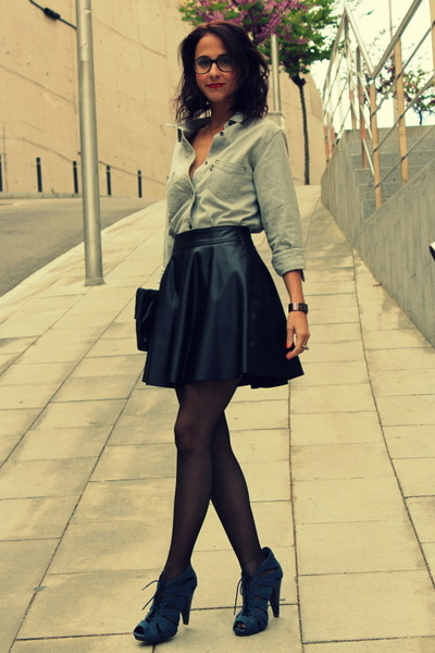 black leatherette forever 21 skirts denim levis shirts
