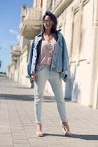 vintage Levis jacket - Zara jeans - ankle strap Melissa wedges