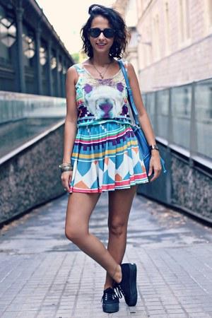 alpaca Mr Gugu Mrs Go dress - flatforms Superga sneakers