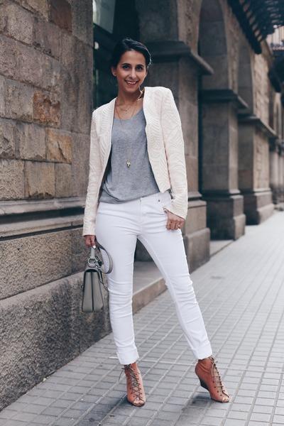 ivory Twist & Tango jeans - cream System Action jacket