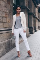 ivory Twist & Tango jeans - cream System Action jacket
