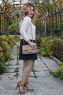 Cream-silk-zara-blouse-navy-leather-look-zara-skirt