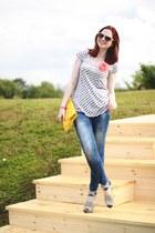 Payless shoes - Bershka jeans - warehouse top