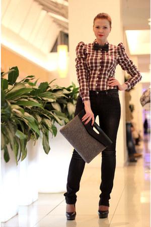 Fornarina shirt - liu jo jeans - asos bag - DIY tie