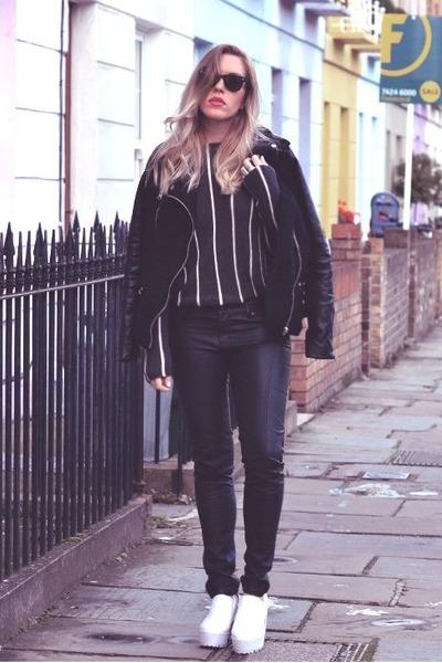 leather Sheinside panties - Choies boots - Choies jacket