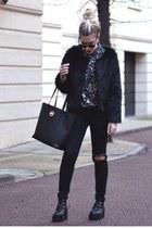 romwe boots - Choies jacket - Choies shirt - Michael Kors bag