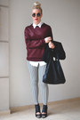 Brick-red-quilted-h-m-trend-sweatshirt-black-nelly-boots-h-m-coat