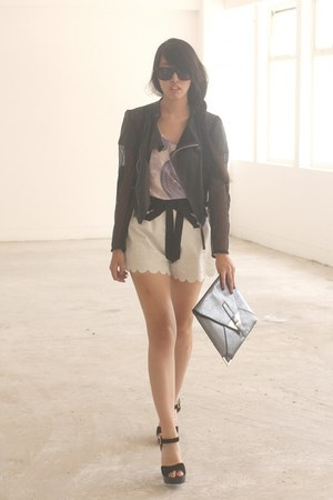 black horace jacket - white Twenty8Twelve shorts