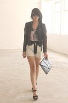 black horace jacket - white Twenty8Twelve shorts