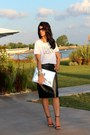 Hologram-tiffany-bag-leather-custom-made-skirt-zara-sandals