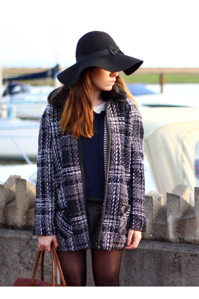 black Primark hat - black Primark jacket - brown Mulberry bag