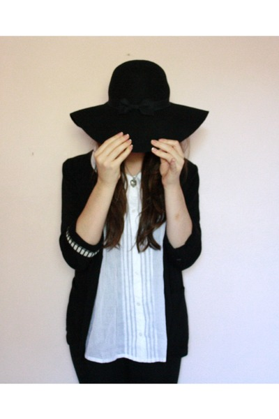 white asos shirt - black Primark hat - black Primark blazer