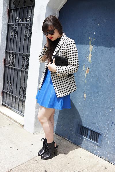 ivory steven alan jacket - black Urban Outfitters sunglasses - black ASTR top
