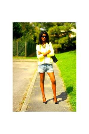 black Michael Kors bag - black Christian Louboutin heels