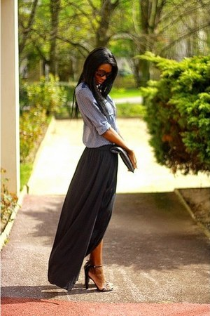 black maxi Mango skirt