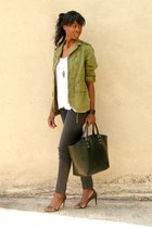 army green Zara jacket