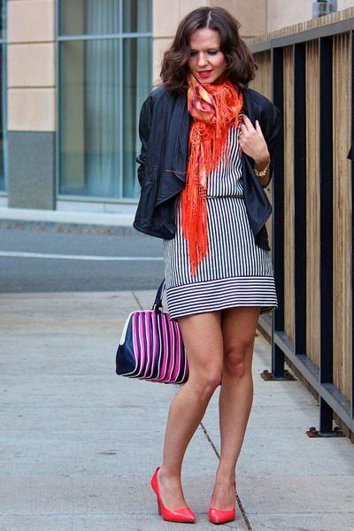 French Connection dress - French Connection jacket - Hugo Boss bag