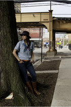 JCPenney boots - Zara jeans - Zara hat - Gap shirt - vintagw scarf - Gap belt