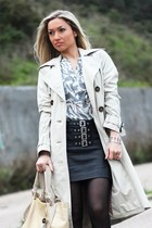 Mango skirt - Zara coat - Furla bag