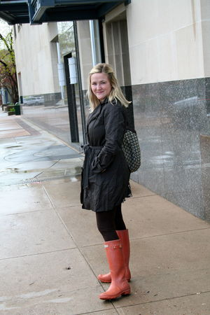 brown Gap coat - brown Saint Grace leggings - orange Hunter boots