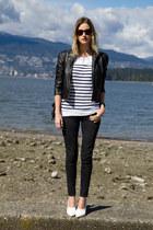 dark gray Zara jeans - black Forever 21 jacket - silver botkier bag