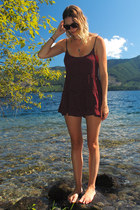 maroon brandy melville dress - hot pink Zara swimwear