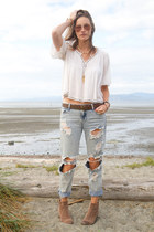 Peasant Top and BF Jeans