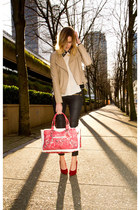 maroon Banana Taipei bag - red Browns heels - eggshell Sugarlips top