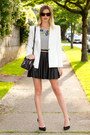 Zara blazer - botkier bag - JCrew top - Zara heels - JCrew necklace