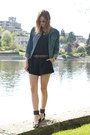 Sky-blue-topshop-jacket-black-aritzia-romper-black-anine-bing-sandals