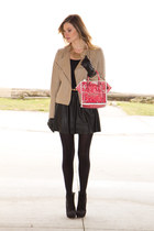 red Banana Taipei bag - black Zara boots - beige Urban Outfitters jacket