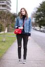 Dark-gray-rag-bone-jeans-sky-blue-topshop-jacket-red-asos-bag