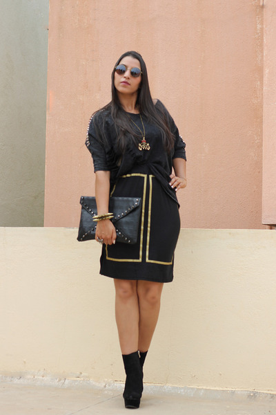 black Coco Fashion skirt - black chicnova jumper