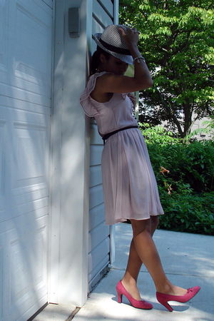 pink H&M dress - pink aerosoles shoes