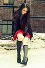 Gray-jcrew-socks-black-elizabeth-and-james-shoes-red-ali-ro-dress-black-ro