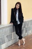 Zara blazer - Zara bag - Zara blouse - Zara heels - Zara pants