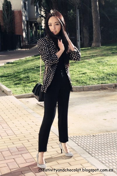 Zara blazer - Mango sweater - Zara bag - Bimba&Lola heels - Zara pants