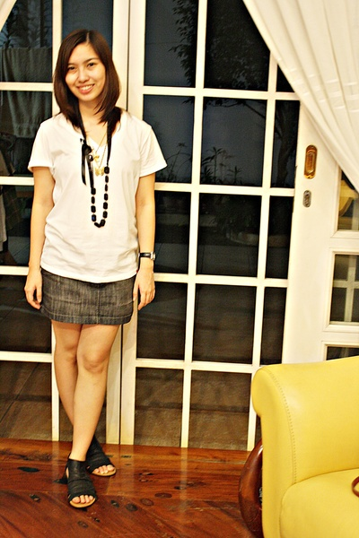 bench shirt - Zara skirt - People are People shoes - Mphosis necklace - Bazaar n