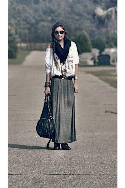 Zara skirt - Michael Kors bag - top