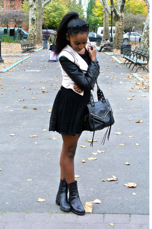Sheinside jacket - vintage boots - H&M top