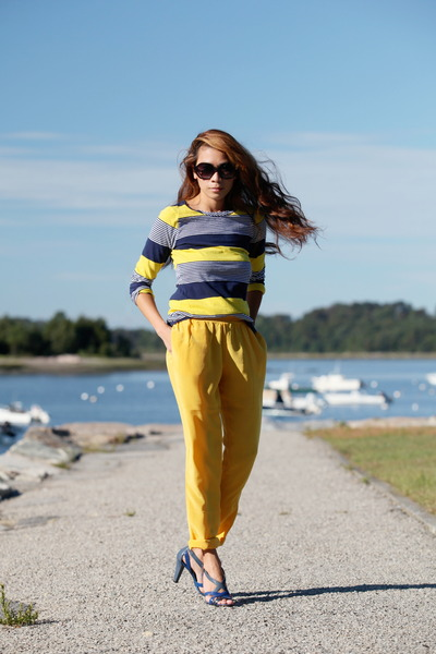 yellow Thakoon for Target shirt - yellow BB Dakota pants