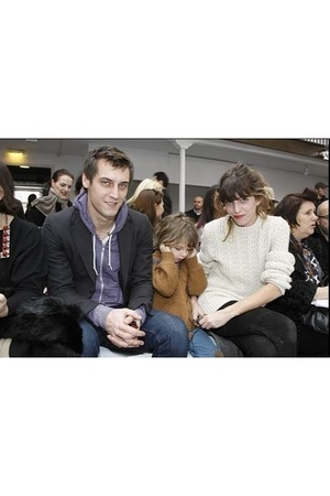 Lou Doillon with her son Marlowe